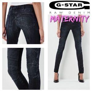 G-STAR 5620 MATERNITY Moto Skinny Jeans Sz. L